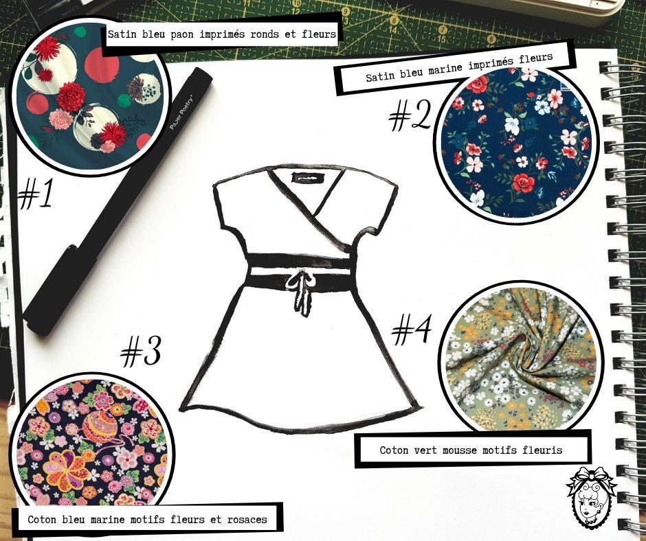 Robe personnalisée tissus