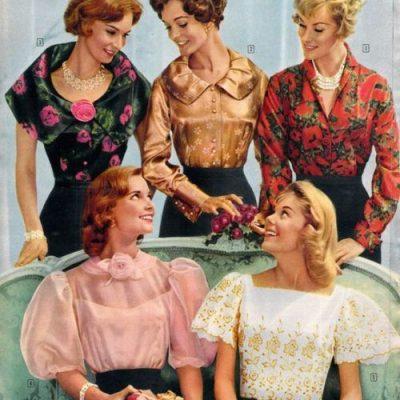 Panoplie de coiffures 50s
